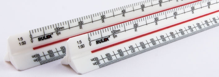 Rulex triangular scale ruler 1