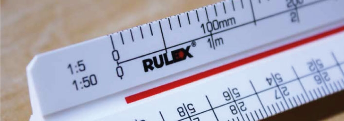 Rulex triangular scale ruler