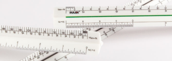 Rulex triangle scale rules