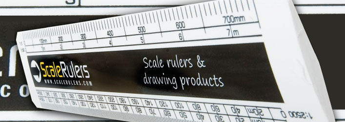 Printed scale rulers