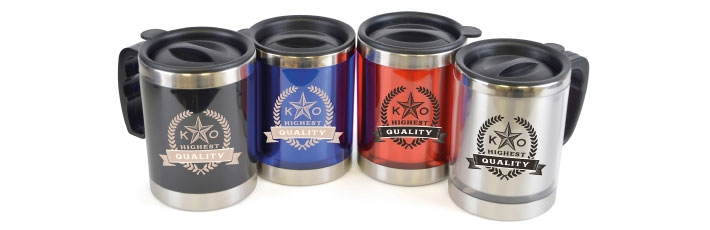 New website - promotional travel mugs