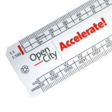 150mm flat oval scale ruler RECYCLED