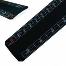 300mm flat oval scale ruler BLACK