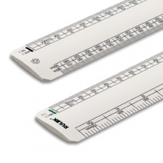 RULEX 150mm oval scale ruler RECYCLED