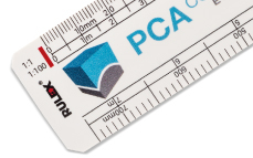 Flat oval scale rulers